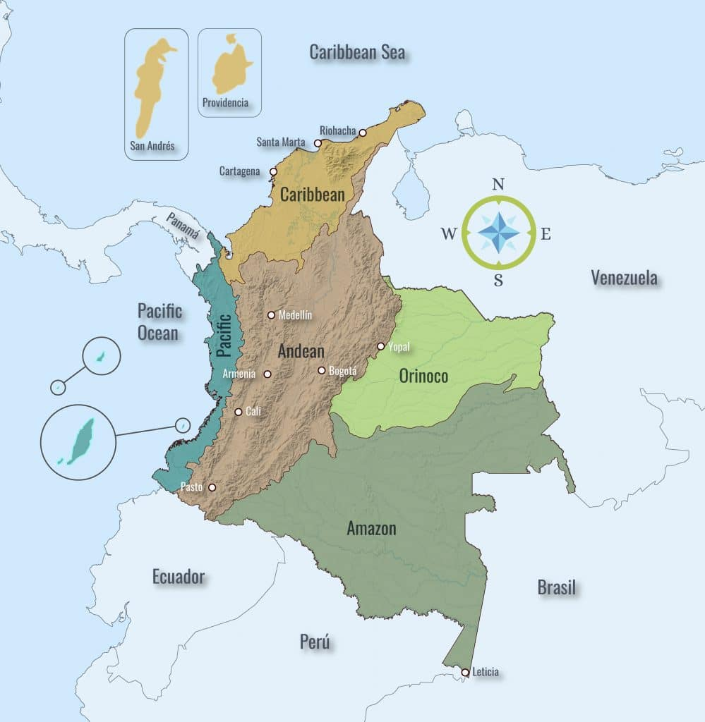 Natural Regions in Colombia