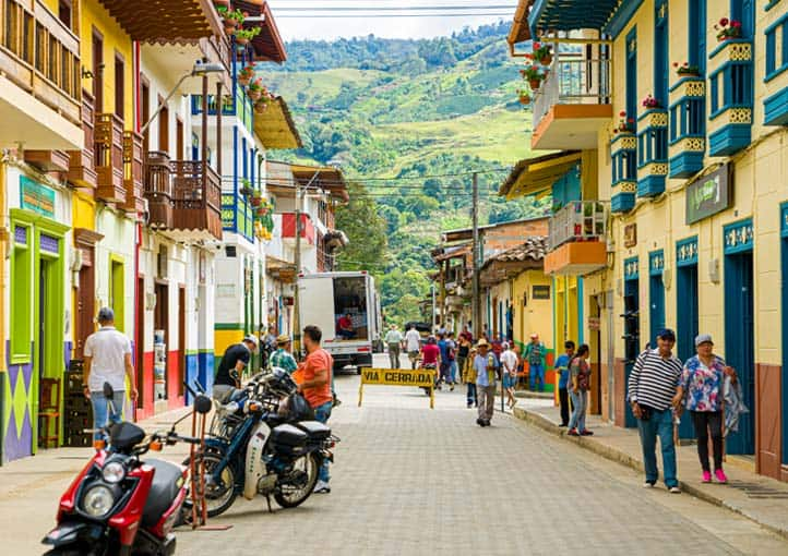 Colombian colourful town