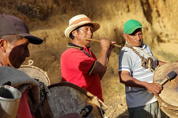 musicians from the indigenous tribe Nasa, southern Colombia