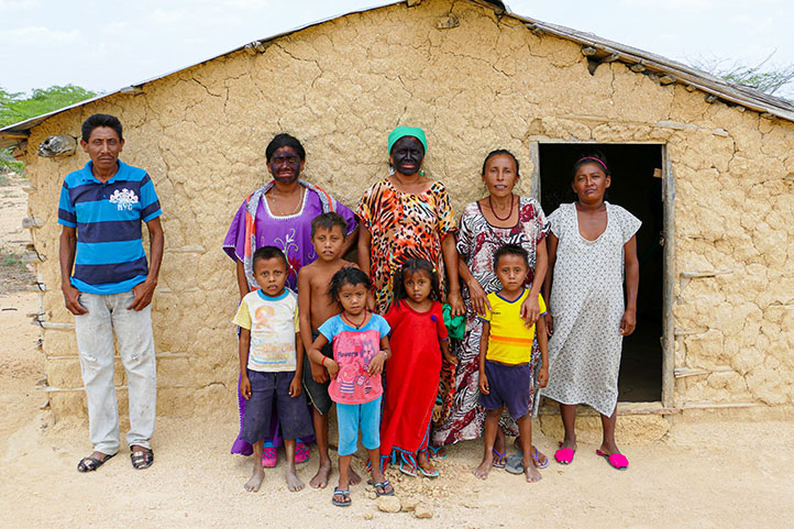 Wayuu family from Northern Colombia